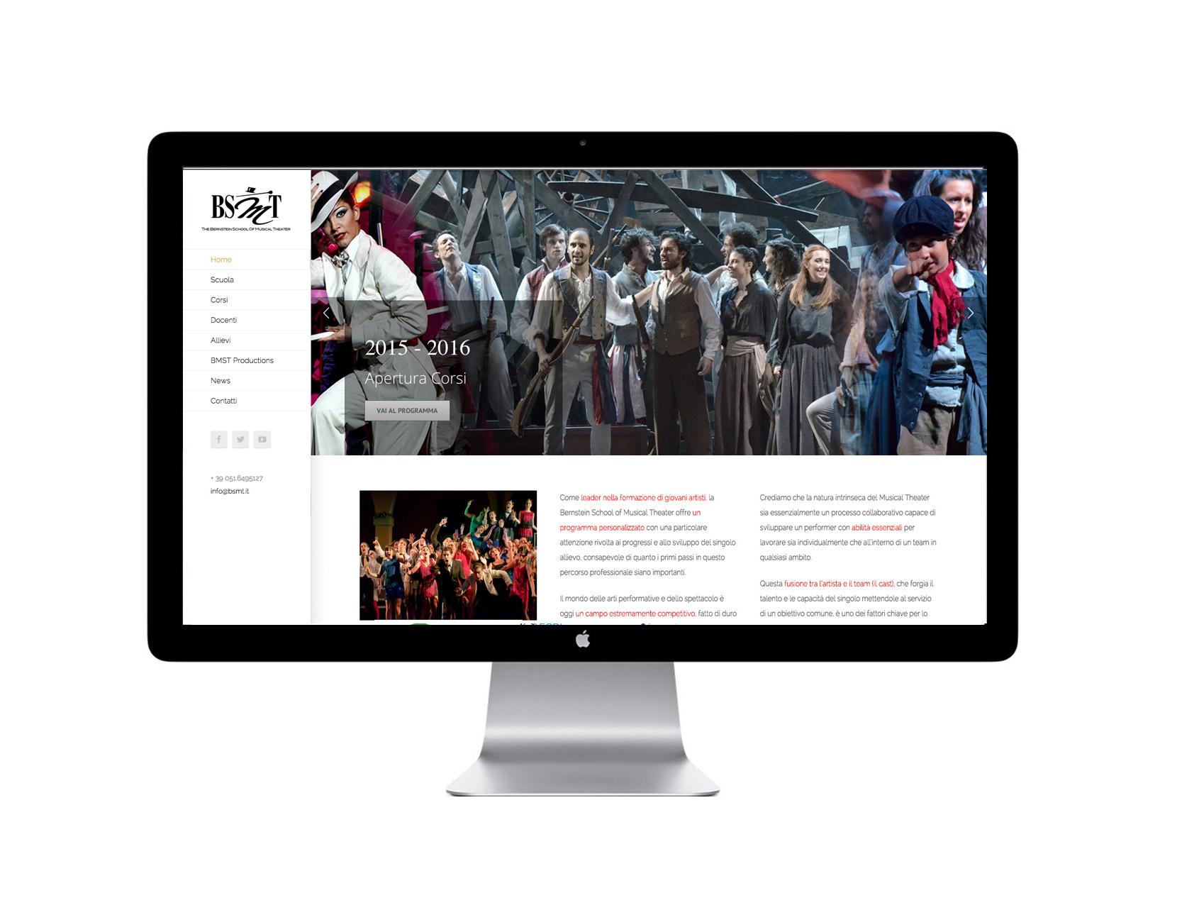 BSMT - The Bernstein School of Musical Theater Bologna - ideavale pubblicita comunicazione web
