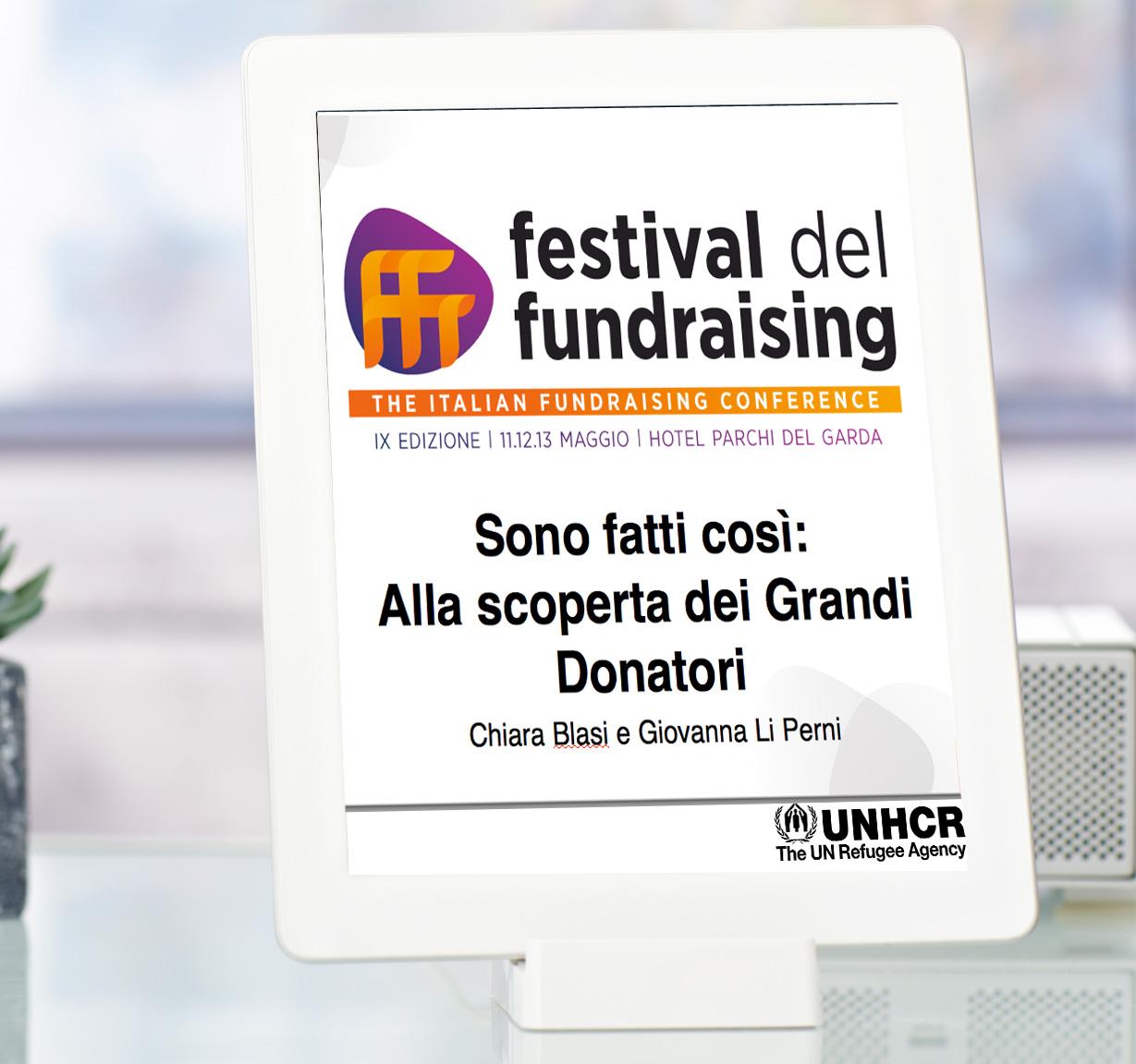 unhcr Presentazione in power point per il Festival del Fundrising