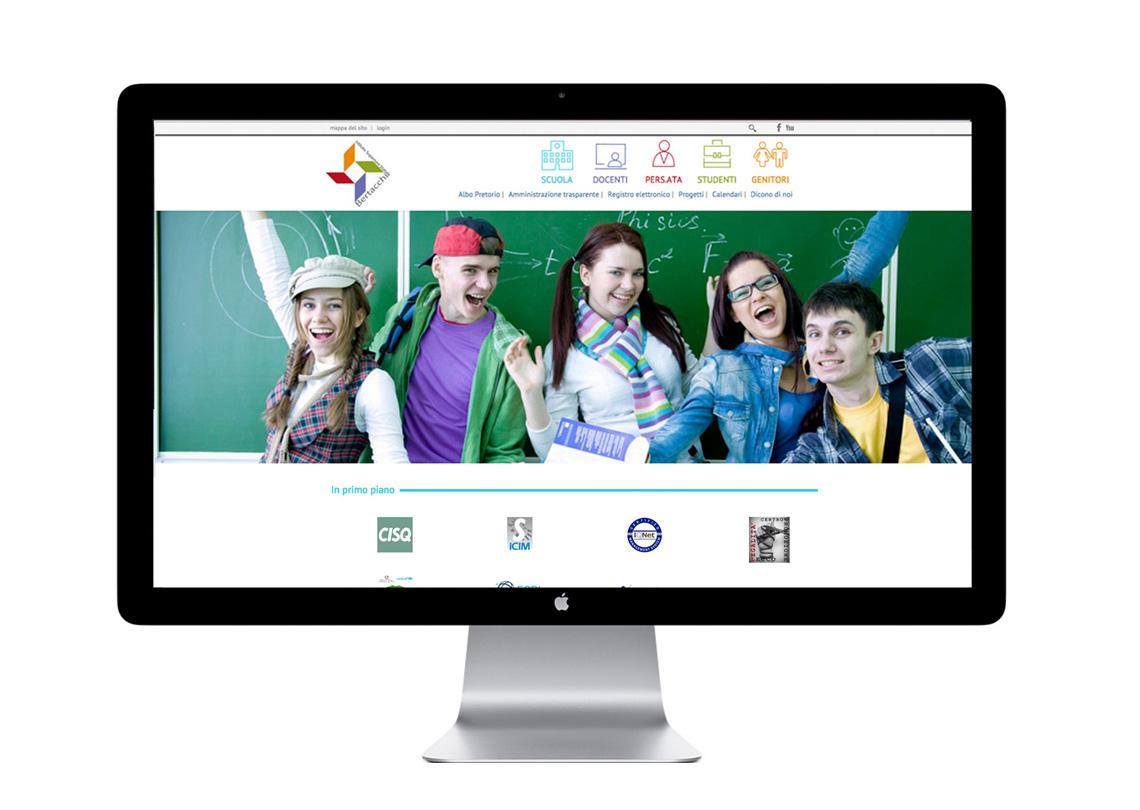 Istituto statale bertacchi seito web realizzato da ideavale comunicazione e pubblicita bologna