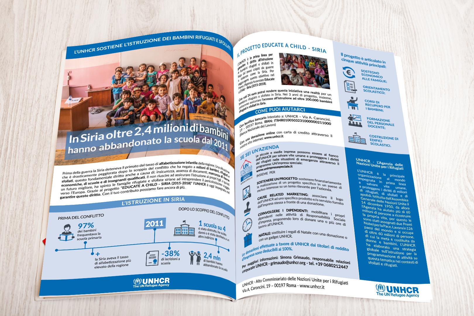 Pagina pubblicitaria sulla rivista Maestri del Lavoro di Sondrio per promuovere le donazioni.