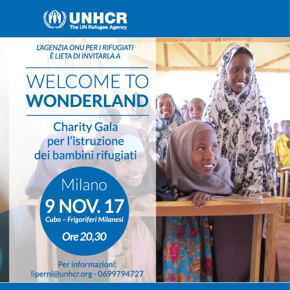 welcome to wonderland evento UNHCR Milano