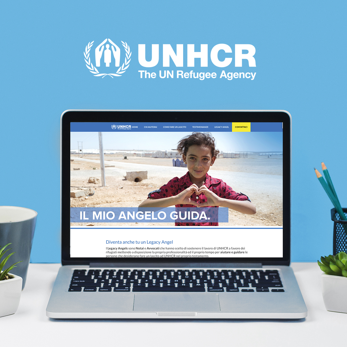 Progetto legacy angel unhcr by ideavale bologna
