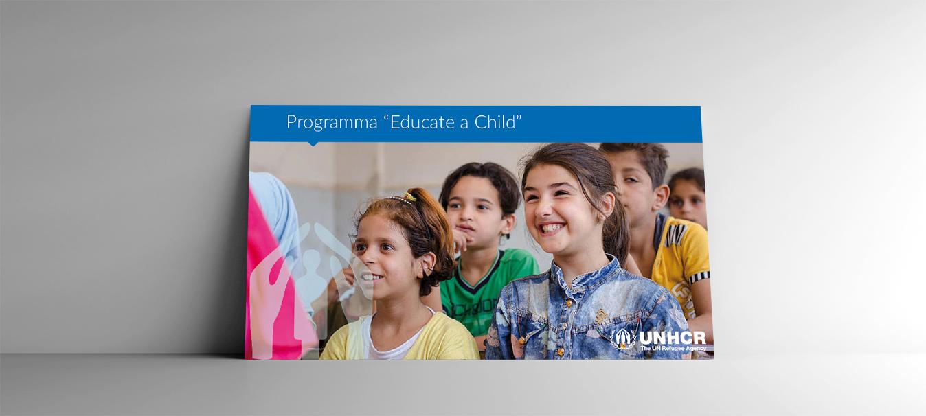 educate a child unhcr realizzato da Ideavale Bologna